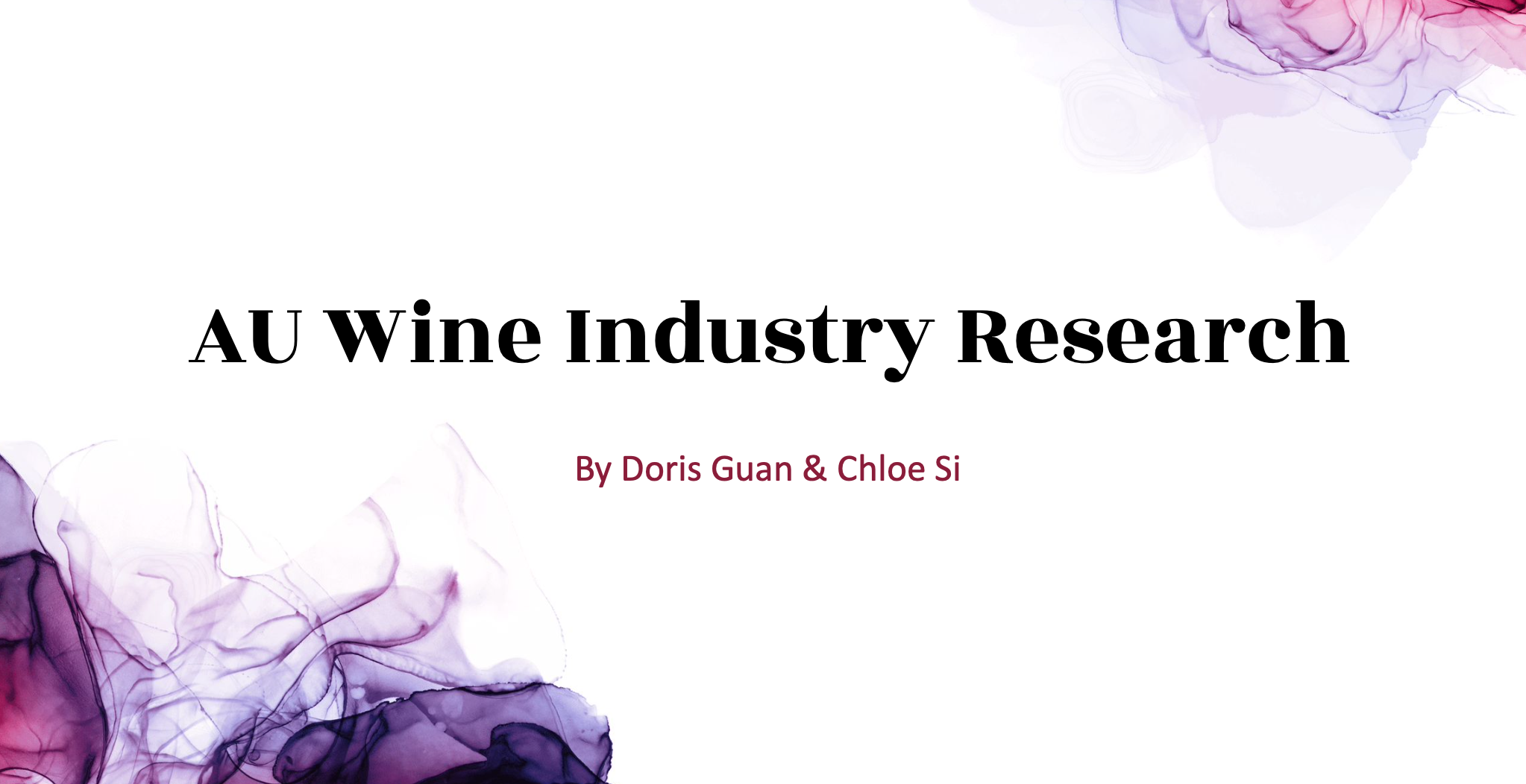 AU Wine Industry Research